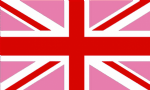 Great Britain Pink Union Jack Large Country Flag - 5' x 3'